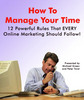 Manage your time as an Online Marketer - Master Resell