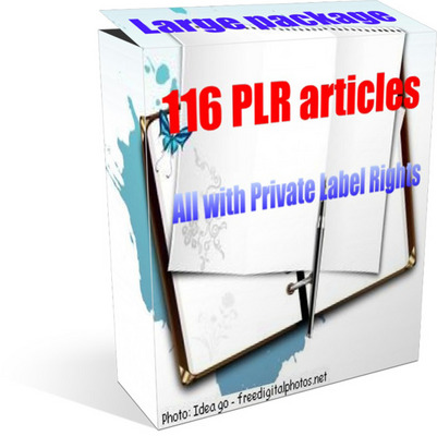 Product picture Large PLR article package - 116 plr articles