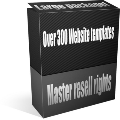 Product picture Over 300 Web design templates - Master resell rights!