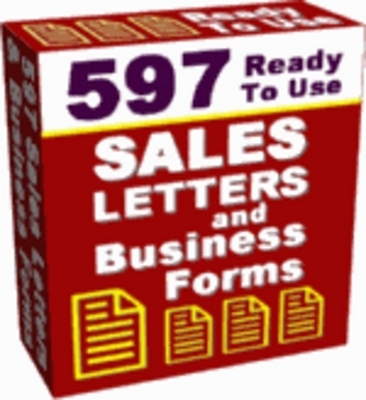 Product picture Over 500 Salesletters free to use - Master resell rights