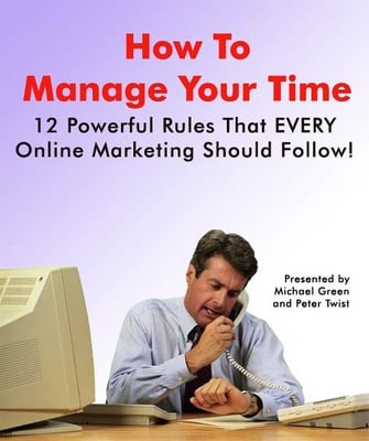 Product picture Manage your time as an Online Marketer - Master Resell